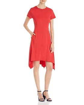 DKNY - Seamed Fit-and-Flare Dress