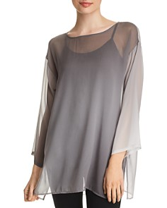 Eileen Fisher Petites - Sheer Ombré Silk Tunic