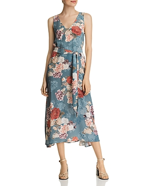 Johnny Was Geles Sleeveless Silk Floral-Print Dress