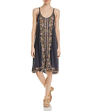 Johnny Was Dresses MARITZAH EMBROIDERED SLIP DRESS
