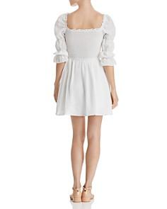 AQUA - Smocked Puff-Sleeve Dress - 100% Exclusive