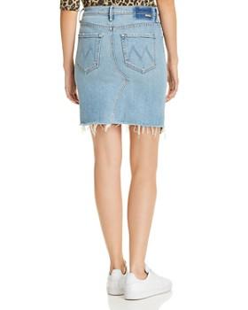 MOTHER - The Tomcat Slide Frayed Denim Skirt