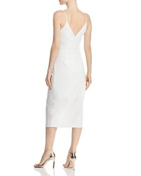 Betsey Johnson - Faux-Wrap Crepe Dress