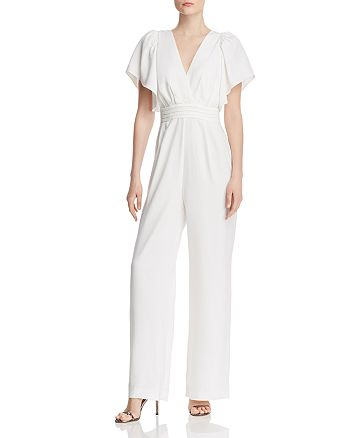 WAYF - Lakewood Flutter-Sleeve Jumpsuit