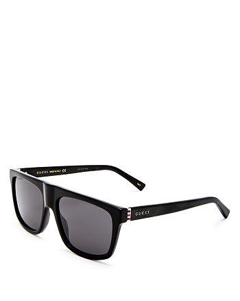 Gucci - Men's Flat Top Square Sunglasses, 57mm