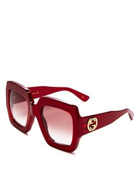 f411155fc01b Gucci - Women's Oversized Square Sunglasses, ...