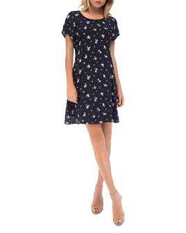 B Collection by Bobeau - Nadine Short-Sleeve Floral-Print Dress