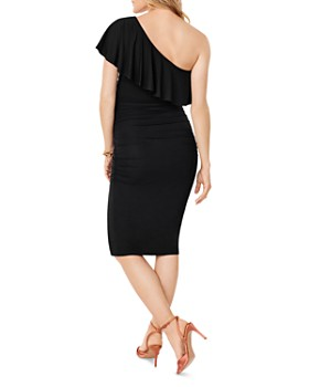 Ingrid & Isabel - Ruffled One-Shoulder Maternity Dress