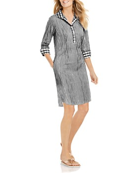 Foxcroft - Miri Crinkled Gingham Dress