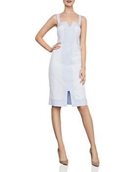 8fc640e50d3a BCBGMAXAZRIA - Lace-Inset Striped Dress ...