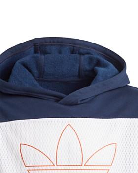 Adidas - Girls' Color-Block Striped-Sleeve Hoodie - Big Kid
