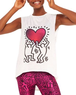 Keith Haring Uplifted Heart Tank by Terez