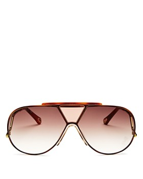 b2cc4045c9f Chloé - Women s Willis Shield Aviator Sunglasses