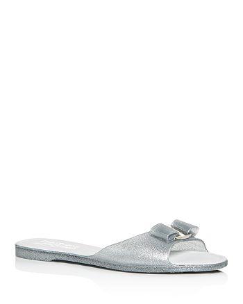 e237e2f6734d Salvatore Ferragamo Women s Cirella Glitter Slide Sandals ...