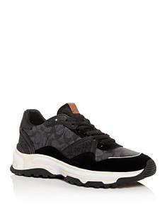 COACH - Men's C143 Mixed Media Low-Top Sneakers