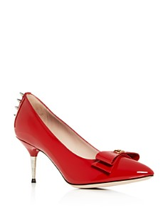 Gucci - Women's Sadie Patent Leather Pumps with Bow
