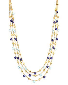 "Marco Bicego - 18K Yellow Gold Paradise Iolite & Blue Topaz Multi-Row Collar Necklace, 16.5"" - 100% Exclusive"
