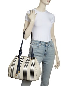 Tory Burch - Caroline Striped Leather Tote