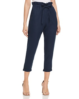 DKNY - Paperbag-Waist Cropped Pants