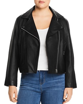 All 67 Plus - Cropped Leather Moto Jacket