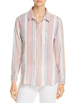 Velvet Heart - Metallic-Stripe Shirt