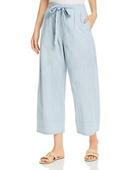 Vero Moda - Mia Organic Cotton Striped Cropped Pants