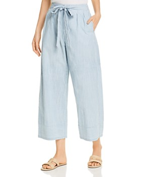 Vero Moda - Mia Organic Cotton Striped Cropped Pants