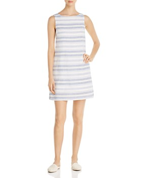 9de2530b33 BeachLunchLounge - Sleeveless Striped Shift Dress ...