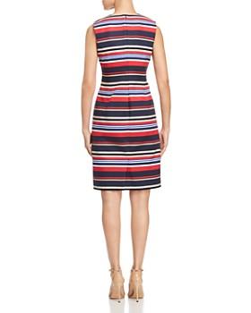 6577aac8fc9 ... DKNY - Striped Zip-Front Sheath Dress