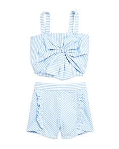 Habitual Kids - Girls' Tamika Striped Tank & Shorts Set - Big Kid