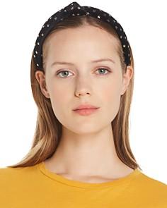 Lele Sadoughi - Star Embellished Velvet Knot Slim Headband