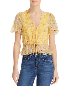46724331aac1e6 Rahi - Nica Floral-Print Drawstring Blouse - 100% Exclusive ...