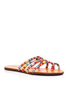 SCHUTZ - Women's Hadassa Multi-Colored Slide Sandals