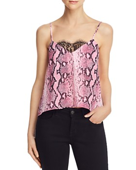 FORE - Lace-Trim Snake Print Cami - 100% Exclusive
