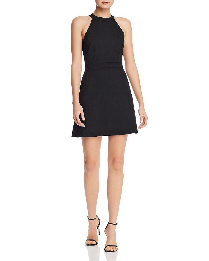 AQUA - High-Neck Mini Dress - 100% Exclusive