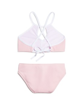 Splendid - Girls' Cutout Neck Ribbed Two-Piece Swimsuit, Big Kid - 100% Exclusive