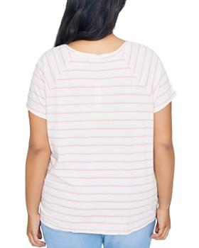 Sanctuary Curve - Lou Striped Tie-Front Tee