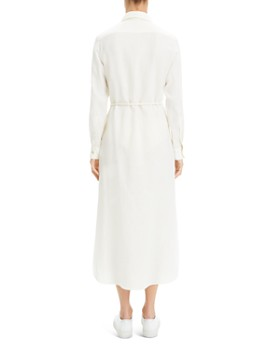 Theory - Belted Linen Shirt Dress