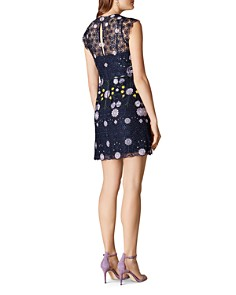 KAREN MILLEN - Embroidered Floral Lace Sheath Dress