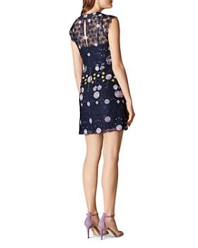 KAREN MILLEN - Embroidered Floral Lace Sheath Dress