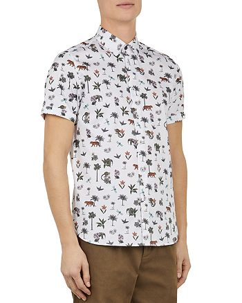 Ted Baker - Dolfin Mini Print Slim Fit Shirt