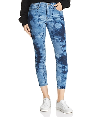 Frame Jeans LE HIGH SKINNY CROPPED TIE-DYE JEANS IN GAZE - 100% EXCLUSIVE