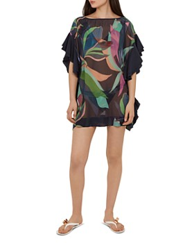 a3960c232d15c Ted Baker - Jansee Supernatural-Print Tunic Swim Cover-Up ...
