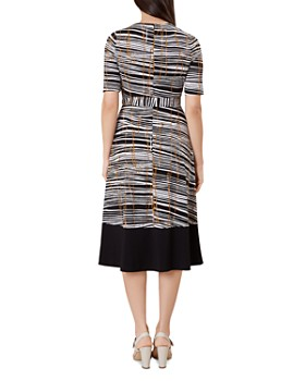 HOBBS LONDON - Amelia Abstract Striped Midi Dress