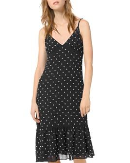 MICHAEL Michael Kors - Ruffled Embellished Midi Slip Dress