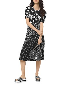 MICHAEL Michael Kors - Mixed Floral-Print Midi Dress