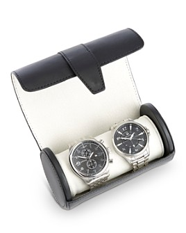 ROYCE New York - Leather Travel Double Watch Roll