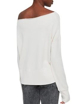 f2109956b6fa4a ... ALLSAINTS - Lando One-Shoulder Sweatshirt
