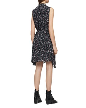 95003e389c ... ALLSAINTS - Jayda Sketch Floral Zip-Front Dress