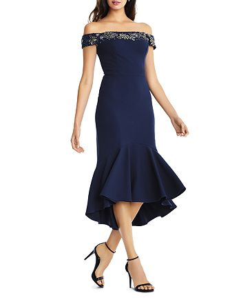 Aidan Mattox - Embellished Off-the-Shoulder Dress